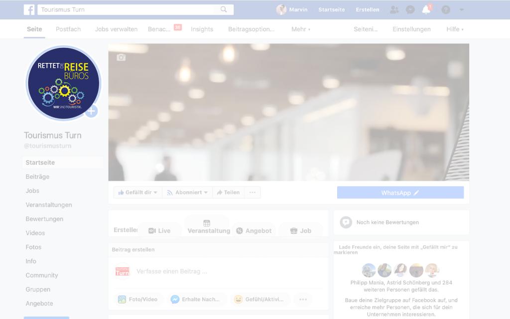 Facebook-Profilbild-Vorschau-Thumbnail rettet die reisebüros